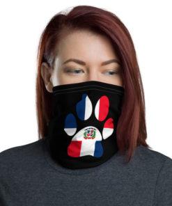 Paw Dominican Republic Flag Neck Gaiter