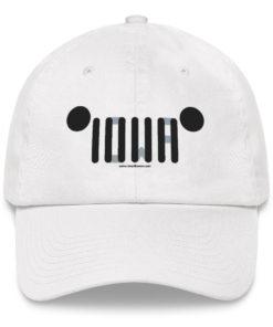 Iowa Jeep Grill Dad hat Caps Iowa