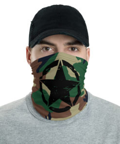 Jeep Rope Camo Army Star Neck Gaiter