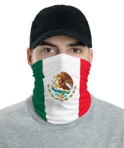 Mexico Flag Neck Gaiter Neck Gaiters Mexico