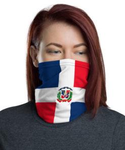 Dominican Republic Flag Neck Gaiter Neck Gaiters Dominican Republic