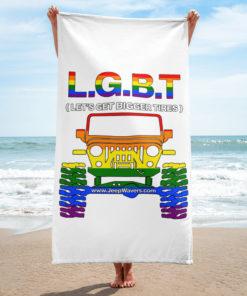LGBT: Let's Get Bigger Tires Towel Towels LGBT
