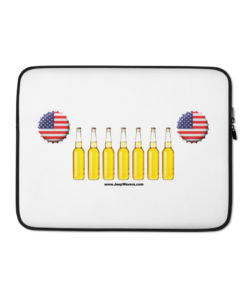 USA Beer Bottles Jeep Grill Laptop Sleeve Laptop Cases Beer