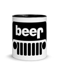 Jeep Beer Grill Logo Mug with Color Inside Mugs Beer