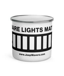 Square Lights Matter Jeep XJ Grill Enamel Mug Mugs Jeep XJ