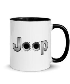 Jeep Bullet Holes Silver Logo 2 Mug with Color Inside Mugs Bullets