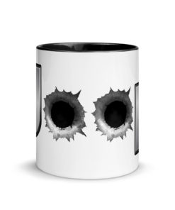 Jeep Bullet Holes Silver Logo Mug with Color Inside Mugs Bullets