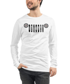 7 Continents Compass Jeep Grill Unisex Long Sleeve Tee Long Sleeve T-Shirt Compass