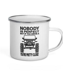 Nobody is Perfect… Enamel Mug Mugs Other