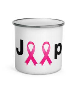 Jeep Breast Cancer Logo Enamel Mug Mugs Breast Cancer