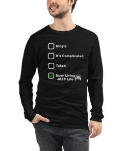 Jeep Relationship (White design) Unisex Long Sleeve Tee Long Sleeve T-Shirt Jeep Relationship