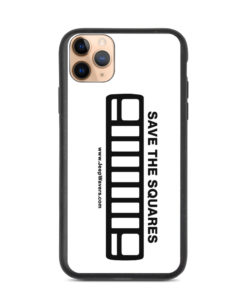 Save The Squares Jeep YJ Grill Biodegradable iPhone Case iPhone Cases Square Lights