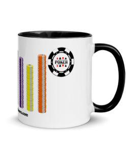 Poker Chips Jeep Grille Mug with Color Inside Mugs Poker
