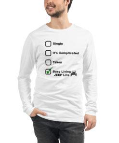 Jeep Relationship Unisex Long Sleeve Tee Long Sleeve T-Shirt Jeep Relationship