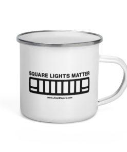 Square Lights Matter Jeep XJ Gril 2 Enamel Mug Mugs Jeep XJ