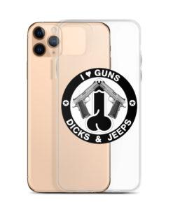 I Love Guns, Dicks & Jeeps Black Design iPhone case iPhone Cases Gun