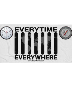 Everytime Everywhere Jeep Grill Towel