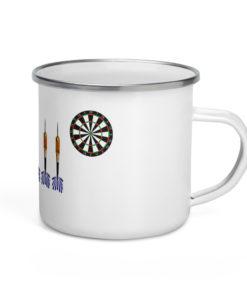 Jeep Blue Darts Grill Enamel Mug Mugs Darts