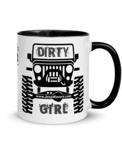 Jeep Dirty Girl Mug with Color Inside Mugs Other