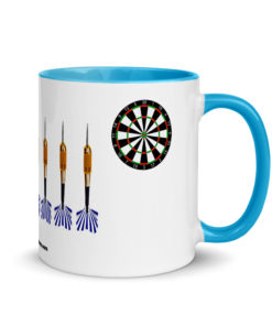 Jeep Blue Darts Grill Mug with Color Inside Mugs Darts