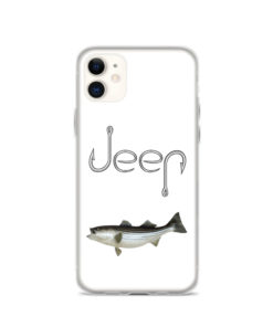 Jeep Hooks Logo with Fish iPhone Case iPhone Cases Fishing