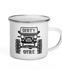 Jeep Dirty Girl Enamel Mug Mugs Other