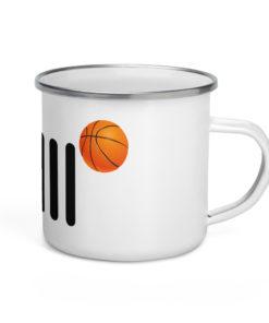 Jeep Basket Ball Grill Enamel Mug Mugs Basket Ball