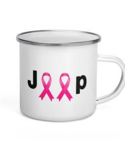 Jeep Breast Cancer Logo Enamel Mug 2 Mugs Breast Cancer