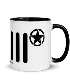Jeep Army Star Mug with Color Inside Mugs Army Star