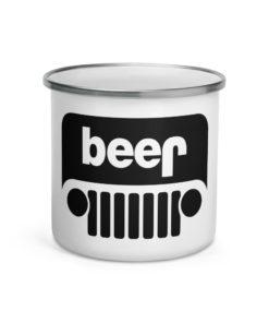 Jeep Beer Grill Logo Enamel Mug Mugs Beer