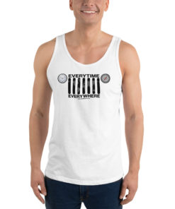 Everytime, Everywhere Jeep Grill Unisex Tank Top Tanks Daily Jeep