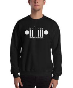 9-11-01 Never Forget Jeep Grill Unisex Sweatshirt 2 Sweatshirts 9-11