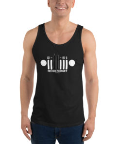 9-11-01 Never Forget Jeep Grill Unisex Tank Top 2 Tanks 9-11