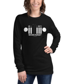 9-11-01 Never Forget Jeep Grill Unisex Long Sleeve Tee 2 Long Sleeve T-Shirt 9-11