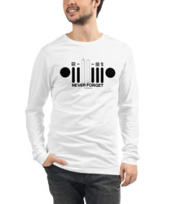 9-11-01 Never Forget Jeep Grill Unisex Long Sleeve Tee Long Sleeve T-Shirt 9-11