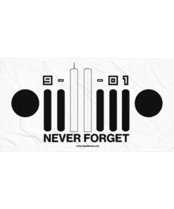 9-11-01 Never Forget Jeep Grill Towel