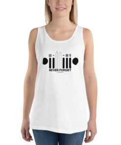 9-11-01 Never Forget Jeep Grill Unisex Tank Top Tanks 9-11
