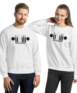 9-11-01 Never Forget Jeep Grill Unisex Sweatshirt Sweatshirts 9-11