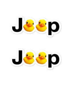 Jeep Duck Logo Bubble-free stickers 2 (X2) Stickers DuckDuckJeep