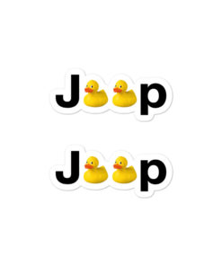 Jeep Duck Logo Bubble-free stickers (X2) Stickers DuckDuckJeep