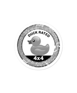 Duck Rated Jeep stickers