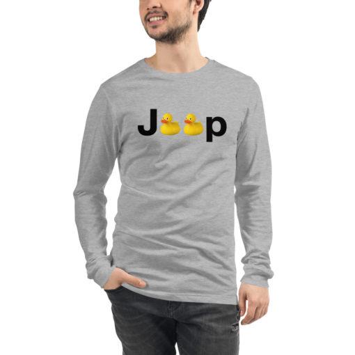 Duck Jeep Logo Unisex Long Sleeve Tee Long Sleeve T-Shirt DuckDuckJeep