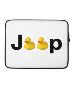 Duck Jeep Logo Laptop Sleeve Laptop Cases DuckDuckJeep