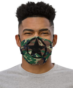 Military Star Camouflage Face mask Face Masks Army Star