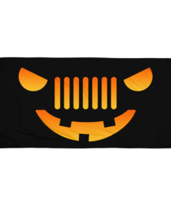 Halloween Jeep Grill Towel
