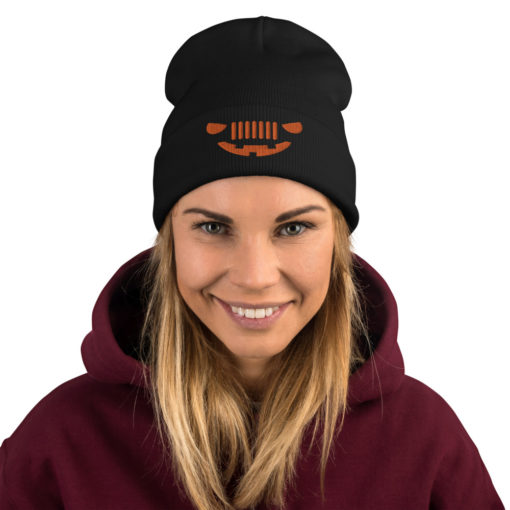 Jeep Halloween Embroidered Beanie