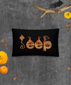 Jeep Halloween Pillow