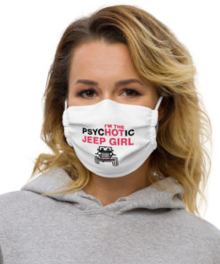 PsycHOTic Hot Jeep Girl Face Mask