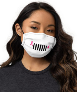 Jeep 7 Slots Grill Breast Cancer Face mask Face Masks Breast Cancer