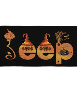 Jeep Halloween Logo Towel